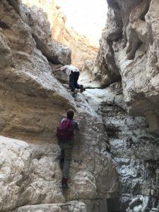 Residentes de Soteria House em uma caminhada no deserto